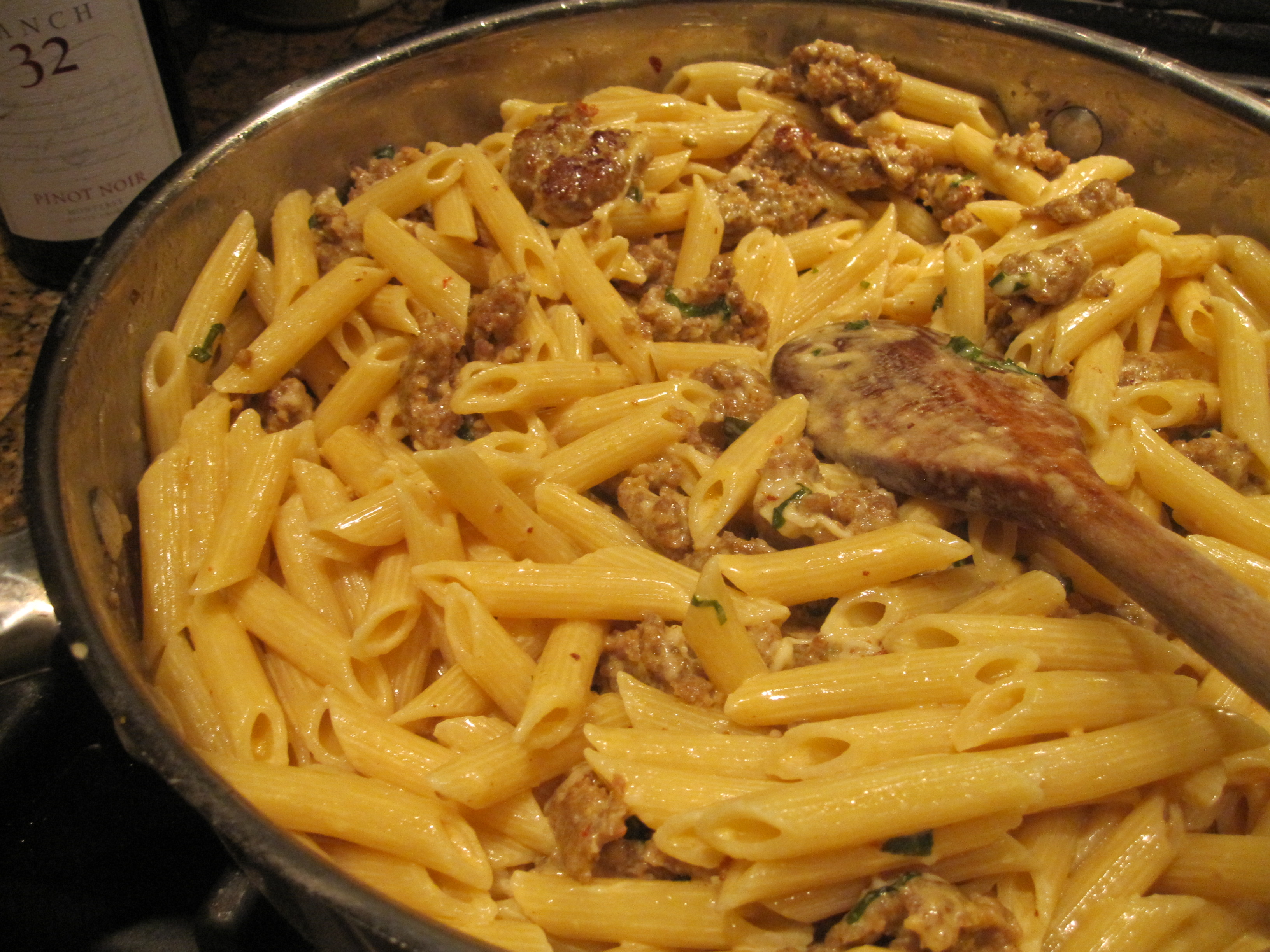 Penne with creamy sausage sauce eat cook blog okay forumfinder Gallery