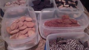 Just a sampling of Dale's cookies on one visit!