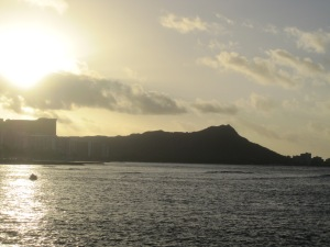 Sunrise over Diamond Head