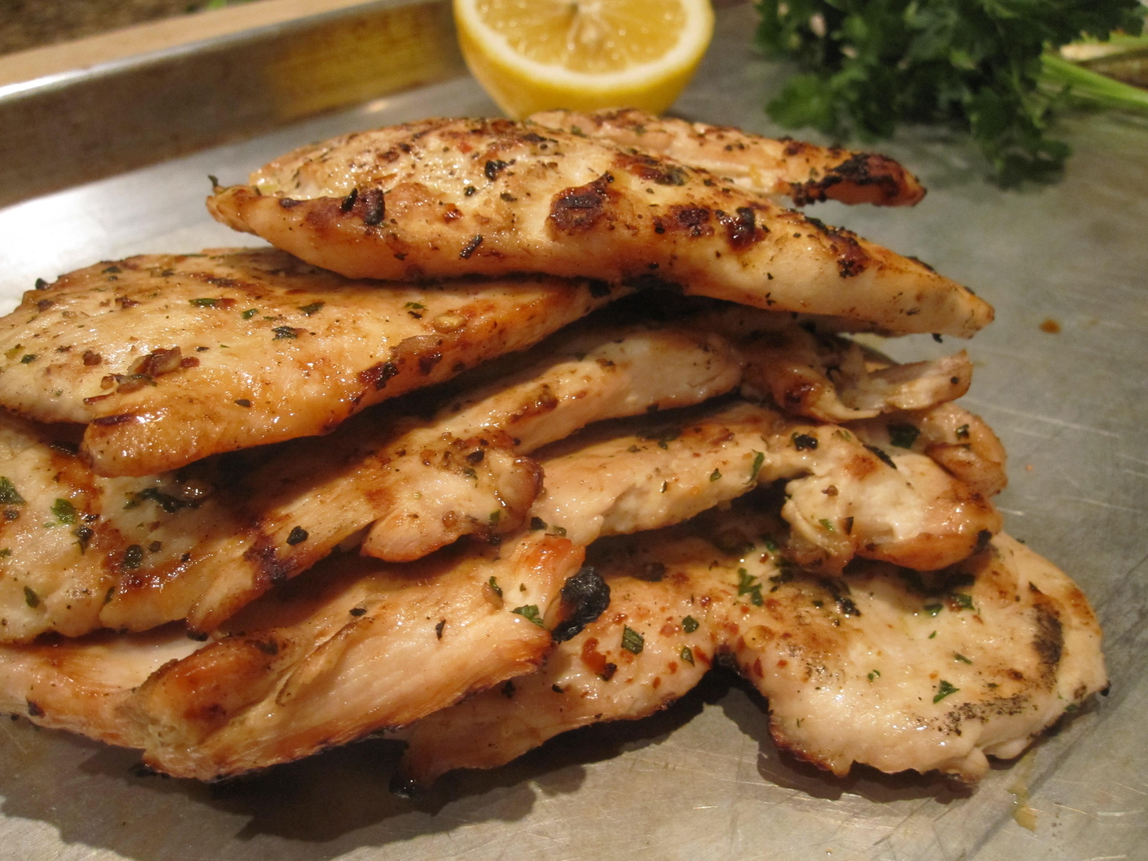 Herbed Grilled Chicken Paillards