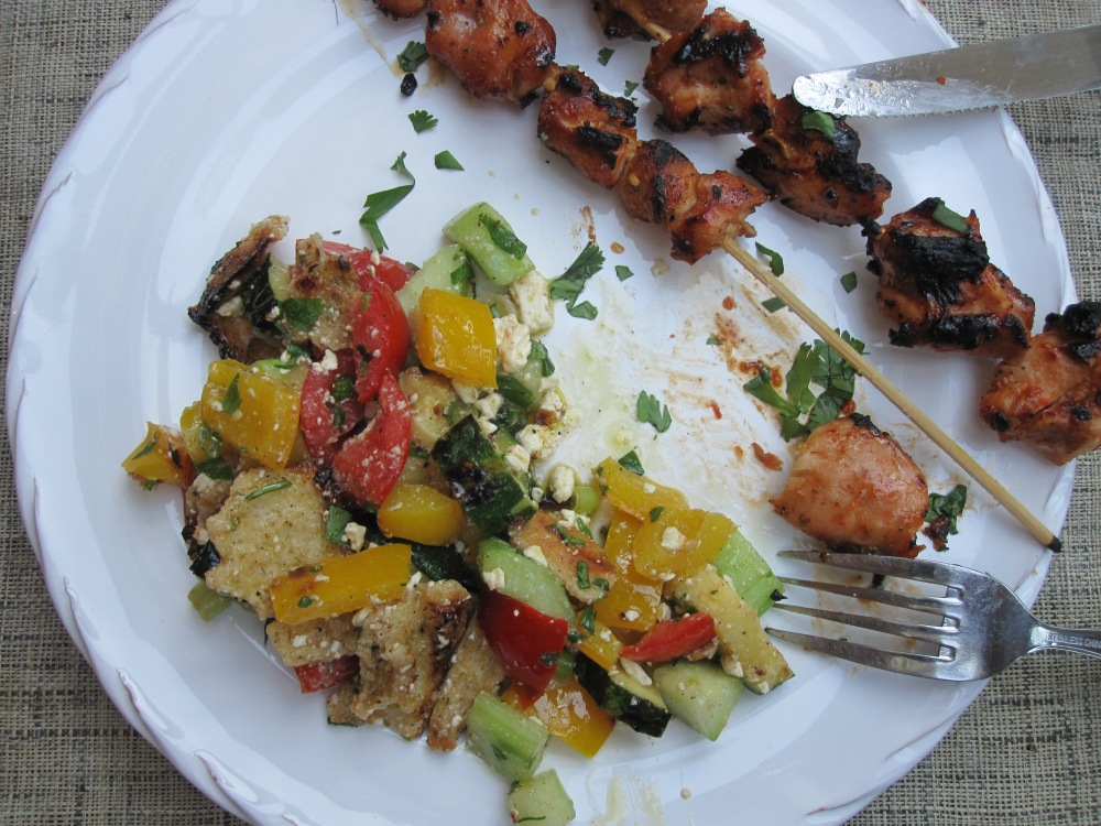 Sriracha-Glazed Chicken Skewers (1/2)