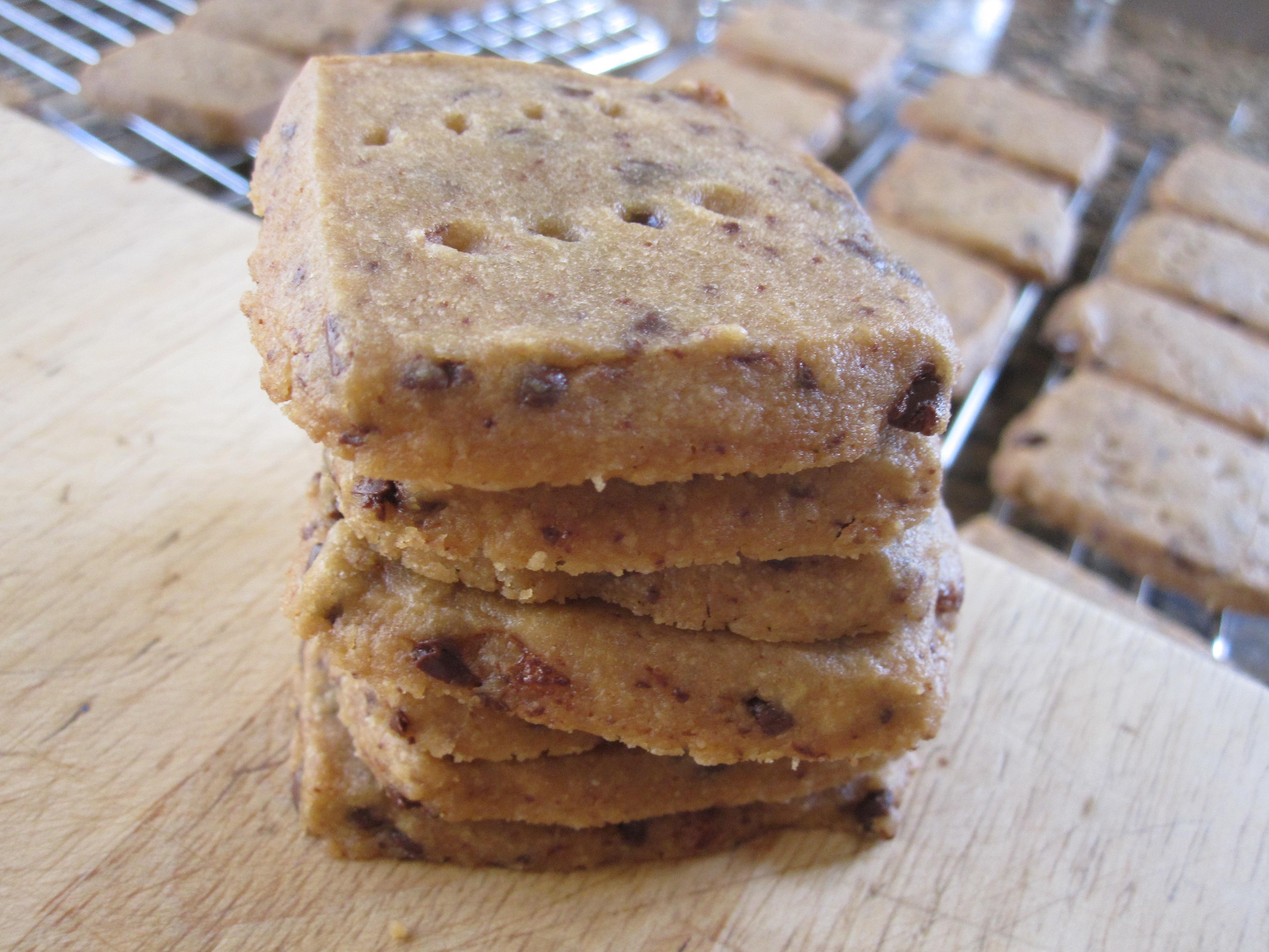 Espresso-Chocolate Shortbread Cookies | eat. cook. blog.